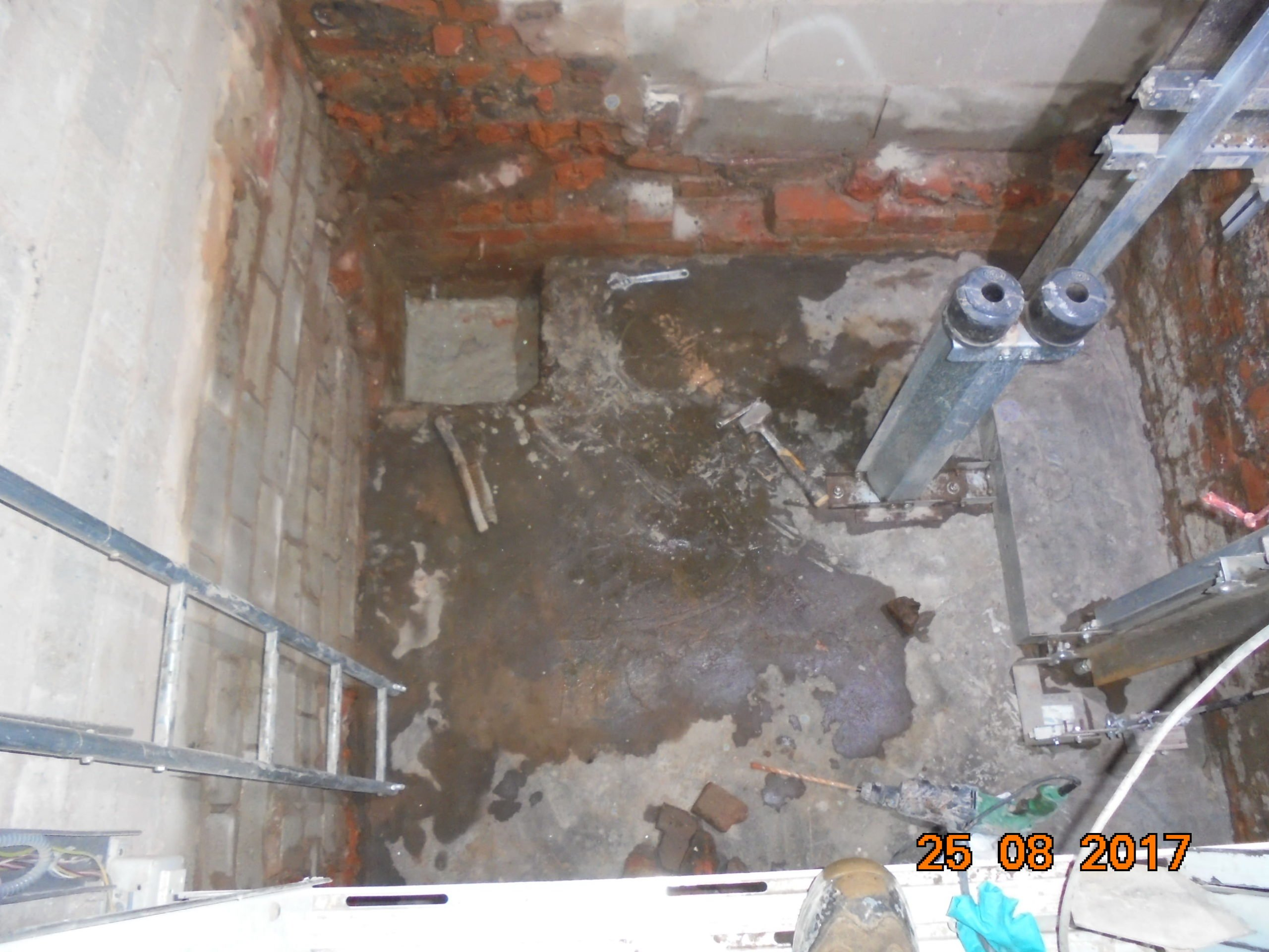 Waterproofing Leaking Lift Pits